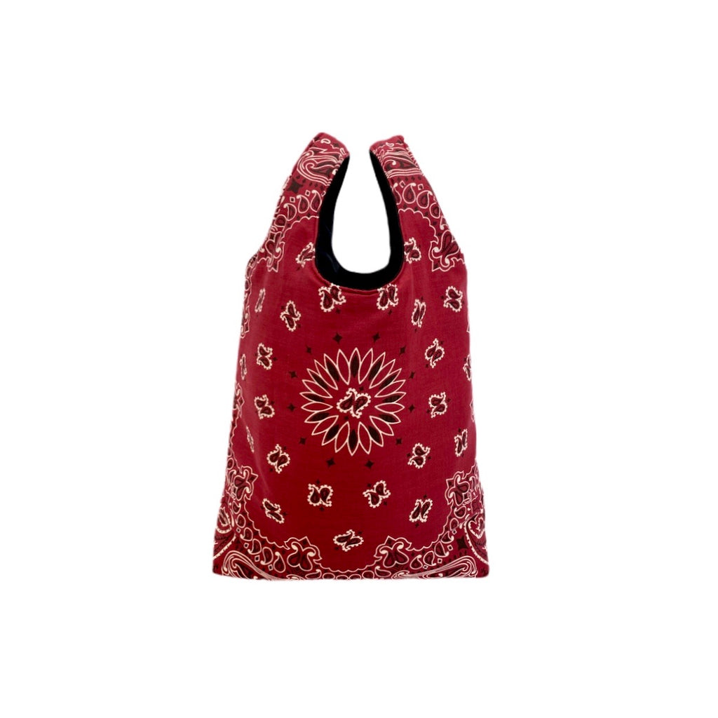Wine Paisley Shopping Bag