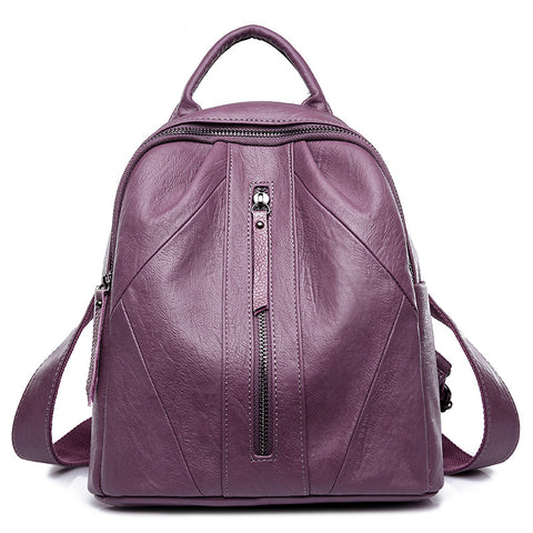 New Arrival Women Soft Leather Backpack