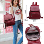 New Genuine Leather Women Backpack