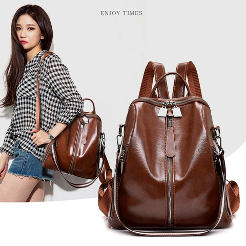 New Fashion PU Leather Women Backpack