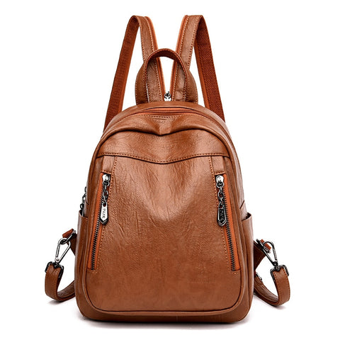 Multifunction Women Backpack High Quality Leather Backpack