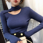 Women T Shirt New Fashion Ribbed Cotton
