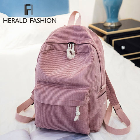 Herald Fashion Preppy Fabric Backpack