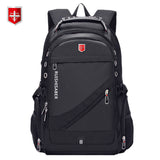 Oxford Swiss 17 Inch Laptop Backpack Men USB Charging