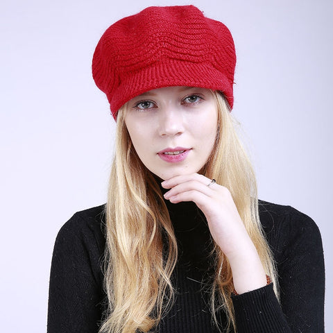 Winter Brim Wool Hat