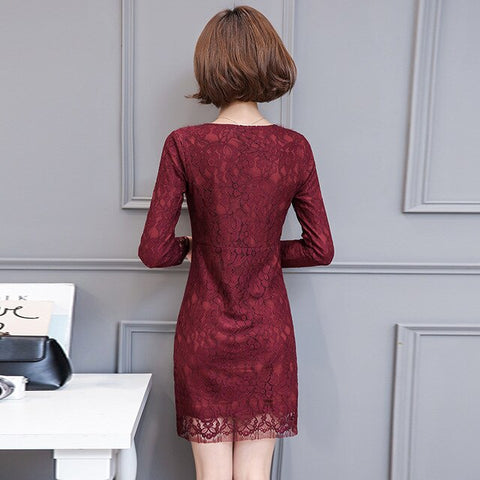 New autumn women long sleeve dress
