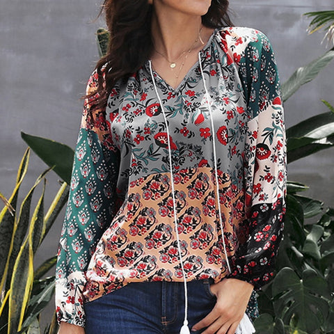 Casual Vintage Shirts Blouse