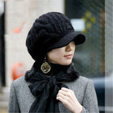 Winter Hat Warm Beanies Fleece Knitted Hats