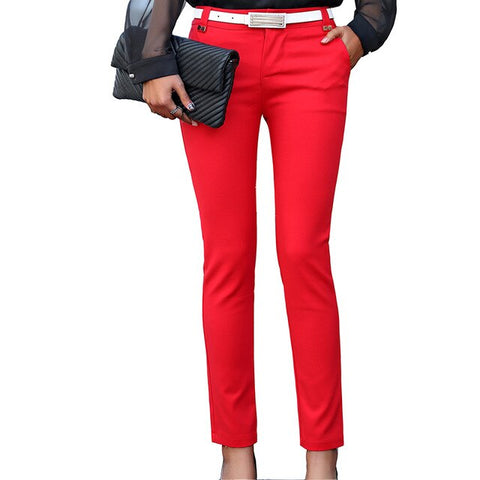 Pants Women Pencil Trousers High Waist Ladies Office Trousers