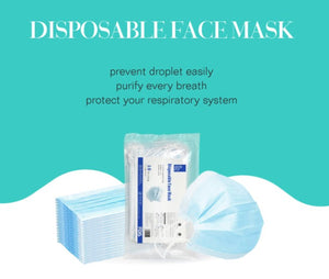 50PCS Disposable Face Mask -- FREE SHIPPING