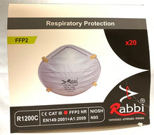 Load image into Gallery viewer, Rabbi Protect Mask Shield -1box (20pcs) $60