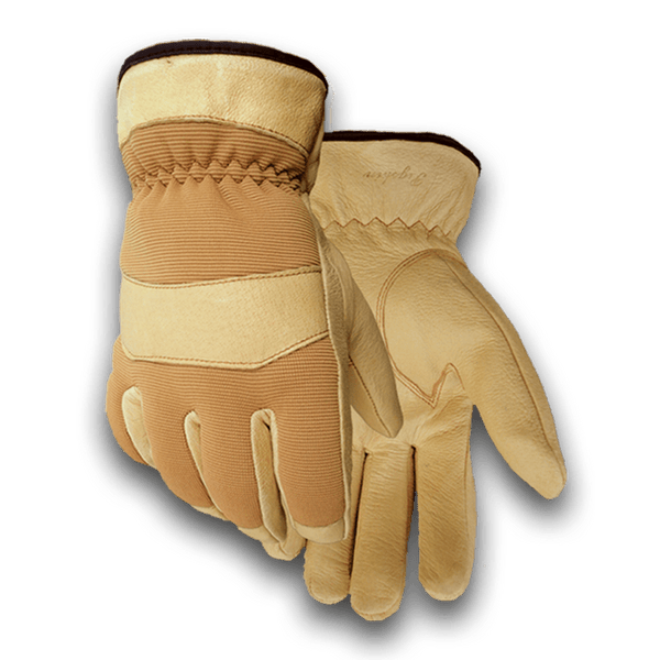 168 Heavy Duty Pigskin Stretch Back Winter Lined Glove
