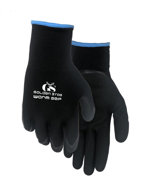 381BK Warm Grip Lined Nitrile Glove (2 Pack)