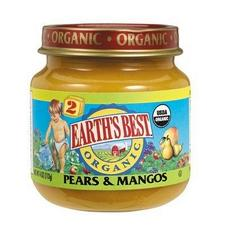 Earth's Best 2nd Foods Organic Pears & Mangos (12x4oz)