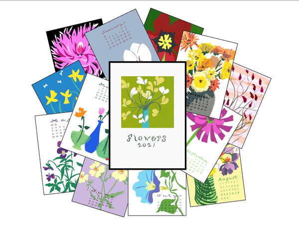 """Flowers 2021"" Calendar - without frame"