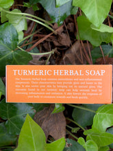 Load image into Gallery viewer, 🍠Tumeric Herbal Soap! (With Cocoa Butter and Black Seed Oil) 🍠