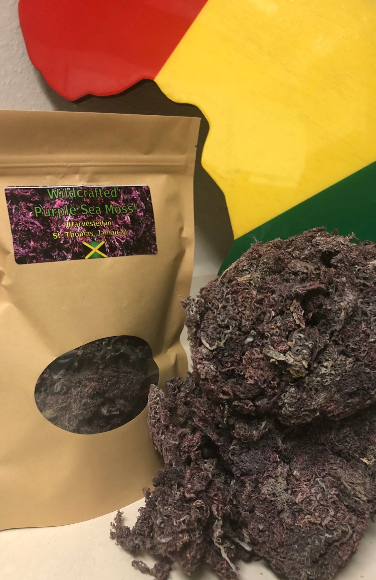 ***Wildcrafted*** Purple Sea Moss! (Harvested in St. Thomas, Jamaica)