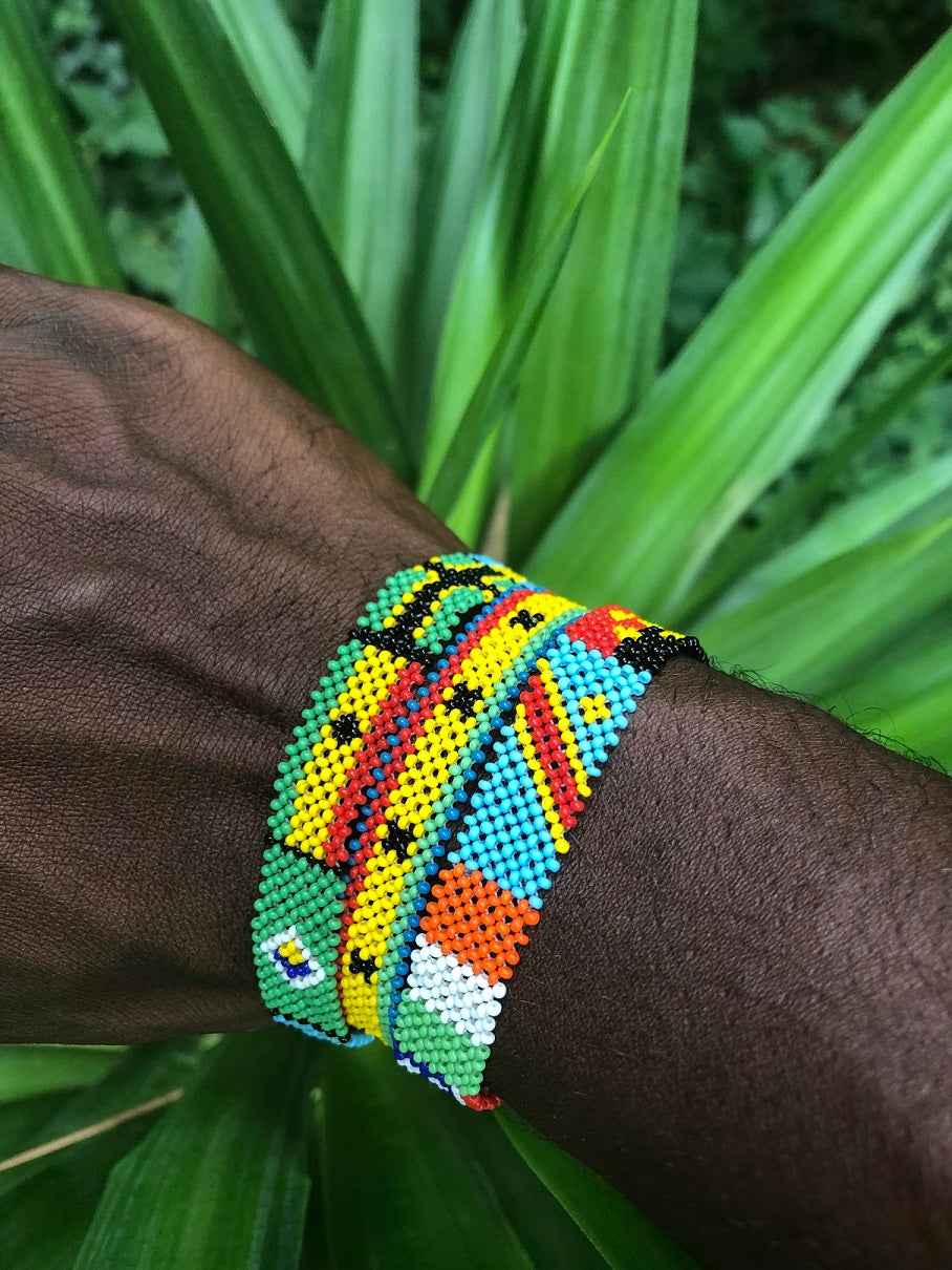 🇬🇭🇯🇲World Flag Bracelet! (Hand-Made in Ghana, West Africa!)🇬🇭🇯🇲