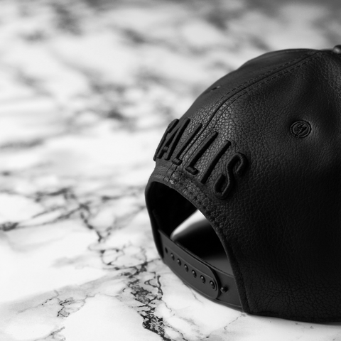 Gallis Snapback - Black Leather snapback