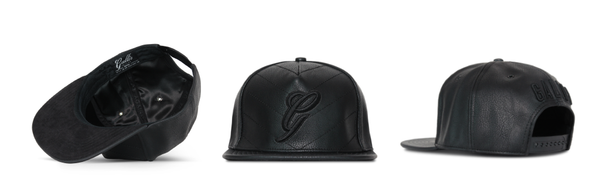 Gallis x Cristiano Ronaldo black leather snapback cap