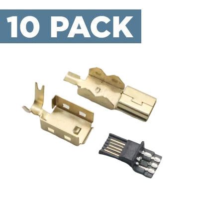 USB-Mini Connector [Gold] (10 Pack)