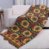 Farmhouse Throw Blanket Sun Floral Soft Cotton Multi Blankets Couch for Bed Office Indoor/Outdoor, 5 Size