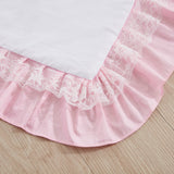 Baby Girl Crib Bedding Set Sunflower Sweet Pink Nursery Bedding 3 Piece Cotton Ruffle Blanket with Lace