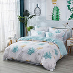 White Printed Bedding Utral Soft Premium 100% Cotton Hypoallergenic Beach Themed Coastal Nautical Bedding 3 Piece