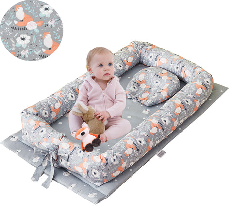 Baby Nest Bed Newborn Lounger Portable Baby Bassinet Crib for Travel/Bedroom Perfect for Co-Sleeping