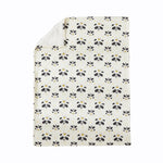 Black and White Crib Bedding Set Unisex Nursery Bedding Cute Panda Collection