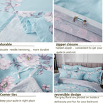 100% Cotton White Floral Girls Bedding Duvet Cover Set