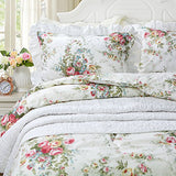 Vintage Rose Floral Duvet Cover Set