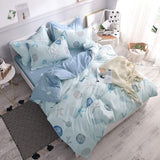 Nautical Coastal Beachy Bedding 100% High Qualtiy Cotton Super Soft Hypoallergenic Duvet Cover Set