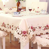European Rustic Tablecloth Handmade Table Cloth Rectangular Hollow Out Table Cover