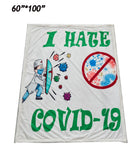 I HATE COVID-19 Throw Blanket