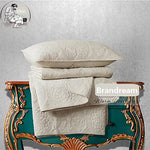 Luxury Beige Bedding Set 3 Piece Oversized Bedspread Quilt Set Queen Size