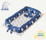 Dinosaur Baby Nest Bed Newborn Lounger Portable Bassinet Crib Bed for Travel/Bedroom Perfect for Co-Sleeping