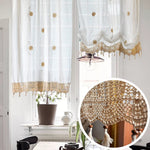 Pastoral Style Adjustable Balloon Curtain Living Room Shade Curtain for Living Room Set,Off-White,1 Panel