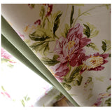 Farmhouse Pink Floral Printed Blackout Curtains