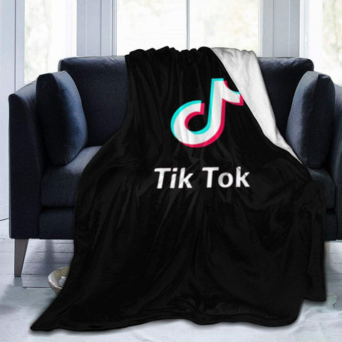 TikTok Theme Soft Fleece Blanket for Coach Bed Travel , So Fashion Design, 3 size for you