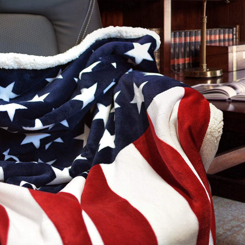 "Fleece Blanket American Flag Blankets Throw Blanket for Boys/Girls/Adults Warm Winter Blankets 51"" X 63"""
