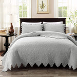 Quilts Set King Size Bedspreads Farmhouse Bedding 100% Cotton Quilted Bedspreads(Quilt 98x106 with Standard Size Pillow Shams)