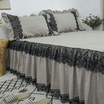 Ruffle Bedding Set 100% Cotton Luxury and Elegant Farmhouse Deep Bedskirt