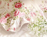 Shabby Pink Rose Floral Print Pillowcases Elegant Country Style Vintage Lace Ruffles Bedding Pillow Covers