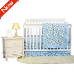 Baby Girls Crib Bedding Sets Farmhouse Boho Floral Nursery Bedding 100% Cotton