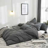 Vintage and Elegant Ruffle Duvet Covers Tassel Bedding
