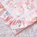 Pink Unicorn Crib Nursery Bedding with Cute Rainbow Star, 100% Cotton!