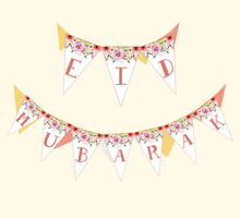 Load image into Gallery viewer, Eid Mubarak Banner - Pink Floral