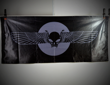 Load image into Gallery viewer, Winged Skull Wall Banner