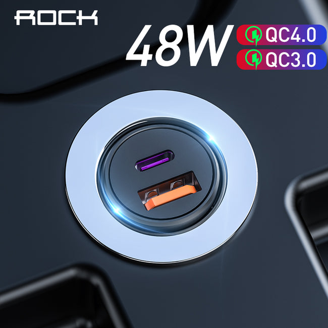 ROCK Quick Charge 4.0 48W QC PD 3.0 Car Charger